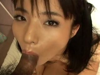 Hot Asian girl goes down on man's dick before getting cunt..