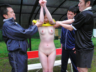 Japanese soccer sluts gets multiple cocks