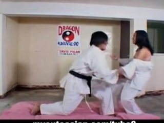 Filipina slut porked firm after karate