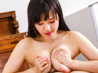 Cock greedy Azusa Nagasawa  and sucks on a hard dick..